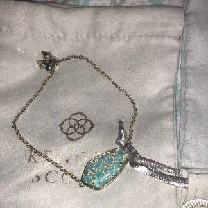 Kendra Scott Aqua Kyocera Opal Cambel bracelet